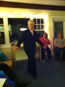 Marilyn Spencer gave the group a modeling class demonstration as we celebrated her birthday in grand style on Saturday night!