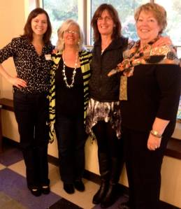 Authentic Women Circle Opening Celebration with Board Members (l to r) Molly McCoy, Kelly McCoy, Eileen Lawton and Cheryl Boucher.