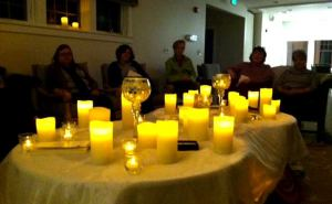 Candles glowed in the Circle Saturday night, enveloping the group in a true feeling of peace.