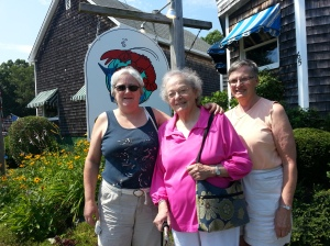 Massachusetts Women Center visitors to Ogunquit in 2013 (left to right): Alice Kinahan, Phyllis Weaver and Rosemary Coley.