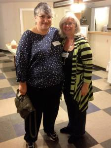 Our first Authentic Women Circle member Carol Sarro surprise Kelly at the Opening Circle Celebration in October 2013.