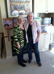 Authentic Women Circle Founder Kelly McCoy with Peer Leader Alice Kinahan at Peer Leadership Weekend in York, ME.
