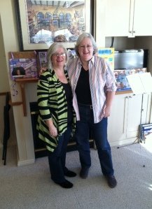 Authentic Women Circle Founder Kelly McCoy with Peer Leader Alice Kinahan at Peer Leadership Weekend in York, ME.